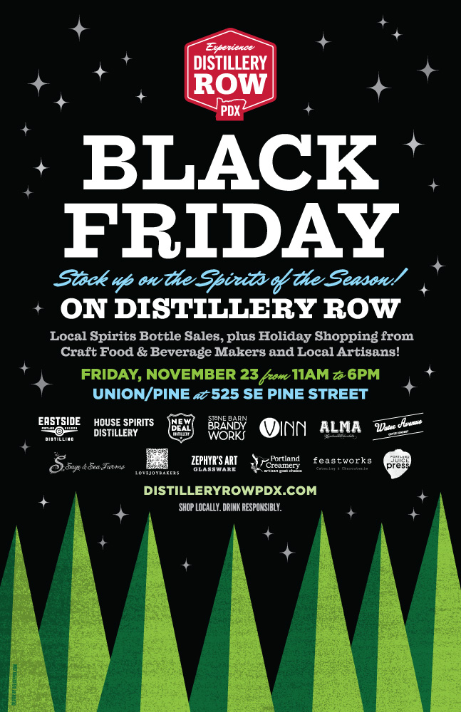 Distillery Row Black Friday Poster